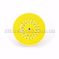 Круг муслиновый CROWN  60 мм 4х50 желтый