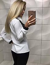 Блуза женская с кружевом и длинным рукавом /разные цвета, S, M, ft-353/, фото 3