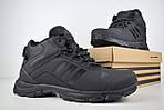 Чоловічі зимові кросівки Adidas Climaproof (чорні), фото 5