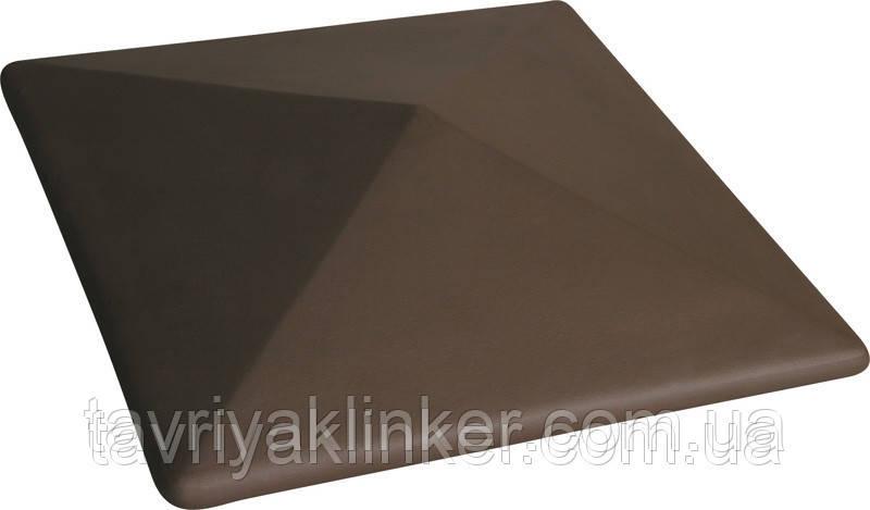 Клинкерная крышка на забор KingKlinker Коричневый (03) 310х445х90мм