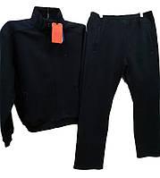 Теплый мужской спортивный костюм Sporaf трикотажный большой размер Темно-синий