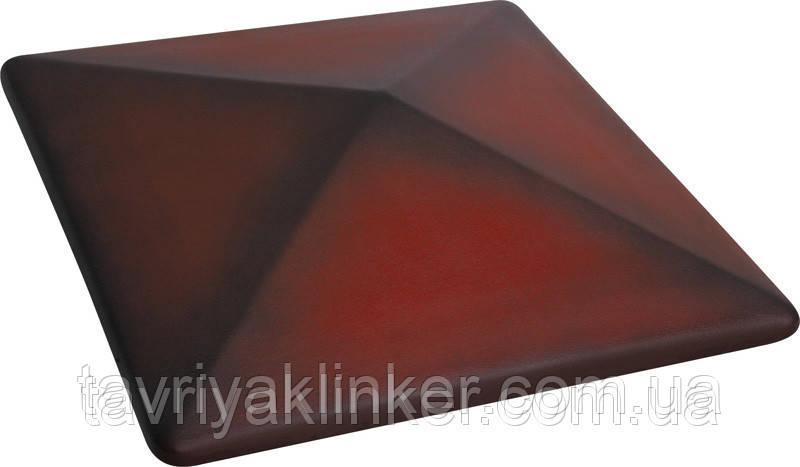 Клинкерная крышка на забор KingKlinker Дикое вино (04) 445х445х90мм