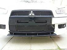Ніздрі в передній бампер Mitsubishi Lancer X (2007-) / (з сіткою), фото 2