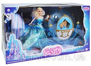 """Детский игровой набор """"Карета Сказочный экипаж"""" 216A с лошадью - 25 см и куклой -29 см; звук, фото 2"""