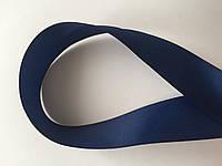 Лента репсова 2.5 см  23 м т.синий, фото 1