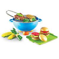 Оригинальный детский игровой набор Гриль Лёнинг Ресурс Learning Resources New Sprouts Grill It! LER 9260