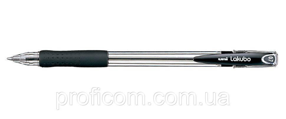 """Ручка кулькова """"UNI"""" LAKUBO 0,7мм чорна"""