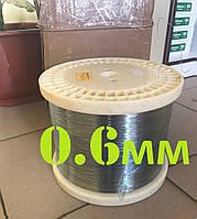 Проволока нержавеющая жёсткая для поводков, чебурашек, грузил 0.6мм - 50 метров