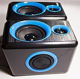 ЮСБ колонки для компьютера, ноутбука (F165, синий), фото 3