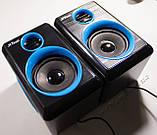 ЮСБ колонки для компьютера, ноутбука (F165, синий), фото 4