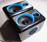 ЮСБ колонки для компьютера, ноутбука (F165, синий), фото 5