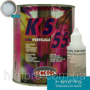 KS55 VERTICALE 1L General Клей полиэфирный ГУСТОЙ  прозрачно-молочный