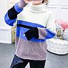 Теплый женский свитер-гольф 44-48 (в расцветках), фото 2