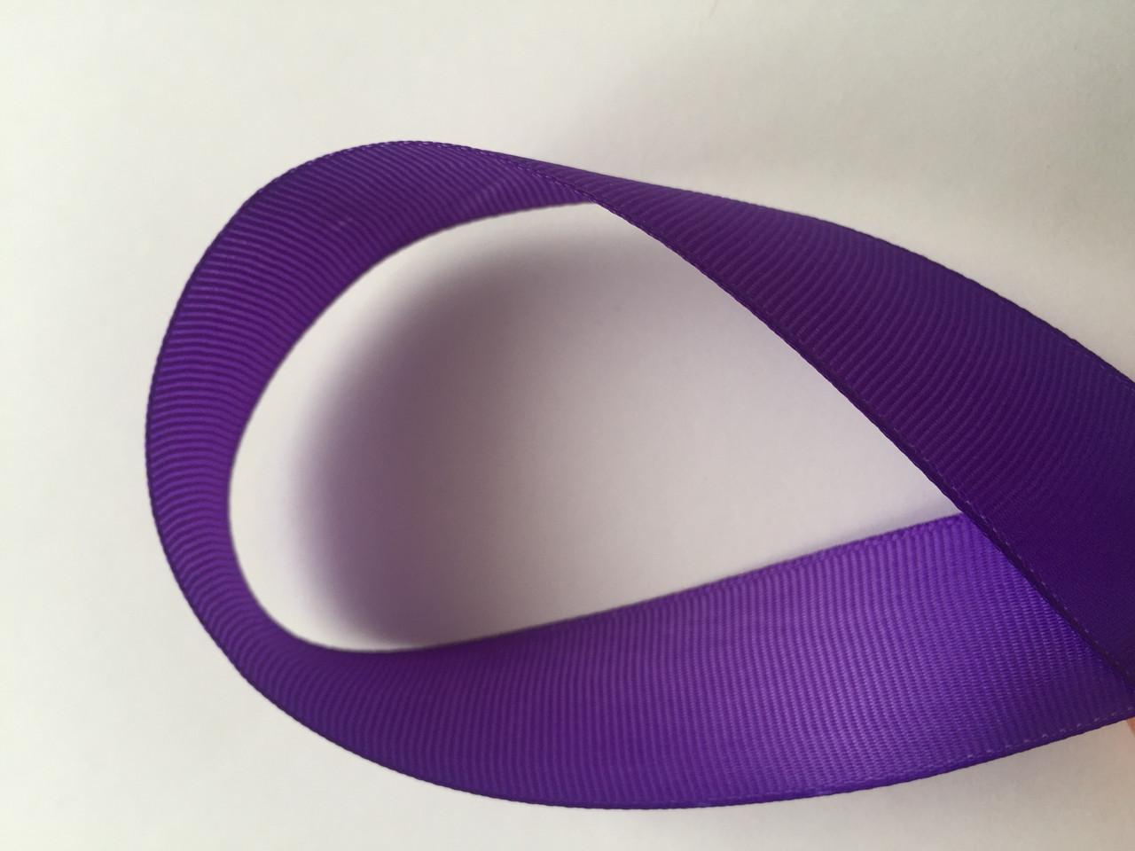 Лента репсова 2.5 см  23 м фиолетов