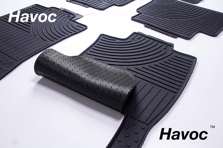 Оригинальные коврики для Nissan Rogue с 2014 HAVOC резиновые в салон полный комплект