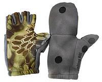 Перчатки Fishing ROI рыбацкие с пал. Рептилия (серый) L