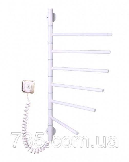 Полотенцесушитель Вертикаль-6 поворотный с терморегулятором (белый)