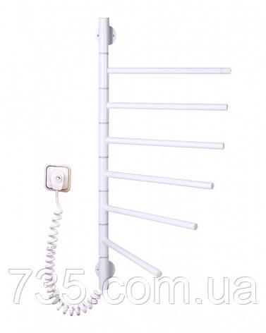 Полотенцесушитель Вертикаль-6 поворотный с терморегулятором (белый), фото 2