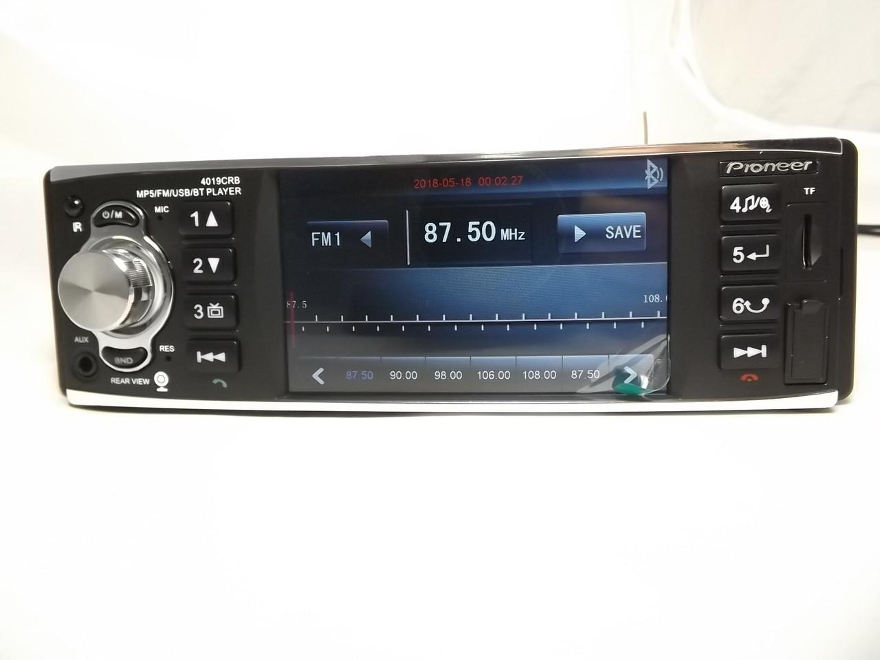 "Pioneer 4019 с экраном 4.1"" дюйма AV-in ISO Автомагнитола+ПОДАРОК!"