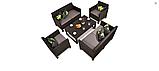 Набір садових меблів Orlando Fiesta Lyon Set зі штучного ротанга ( Allibert by Keter ), фото 3