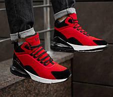 Чоловічі черевики кросівки зимові червоні, фото 2