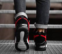 Чоловічі черевики кросівки зимові червоні, фото 3