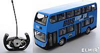 Автобус на радиоуправлении аккумуляторный, 30 см,  2этажа, резиновые колеса