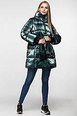 Зимняя женская куртка KTL-283 из новой коллекции KATTALEYA #16 изумрудный велюр, фото 3