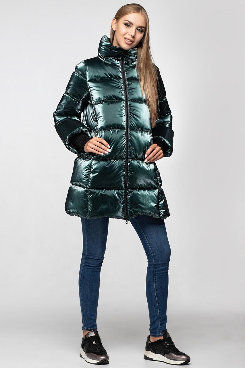 Зимняя женская куртка KTL-283 из новой коллекции KATTALEYA #16 изумрудный велюр