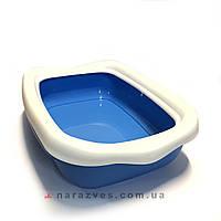 Туалет, лоток для кота с рамкой Beta 43*31*12см