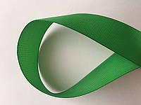 Лента репсова 2.5 см  23 м зелёная, фото 1