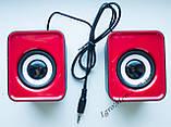ЮСБ колонки 3.1 для компьютера, ноутбука (HS999, красный), фото 2