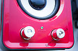 ЮСБ колонки 3.1 для компьютера, ноутбука (HS999, красный), фото 5