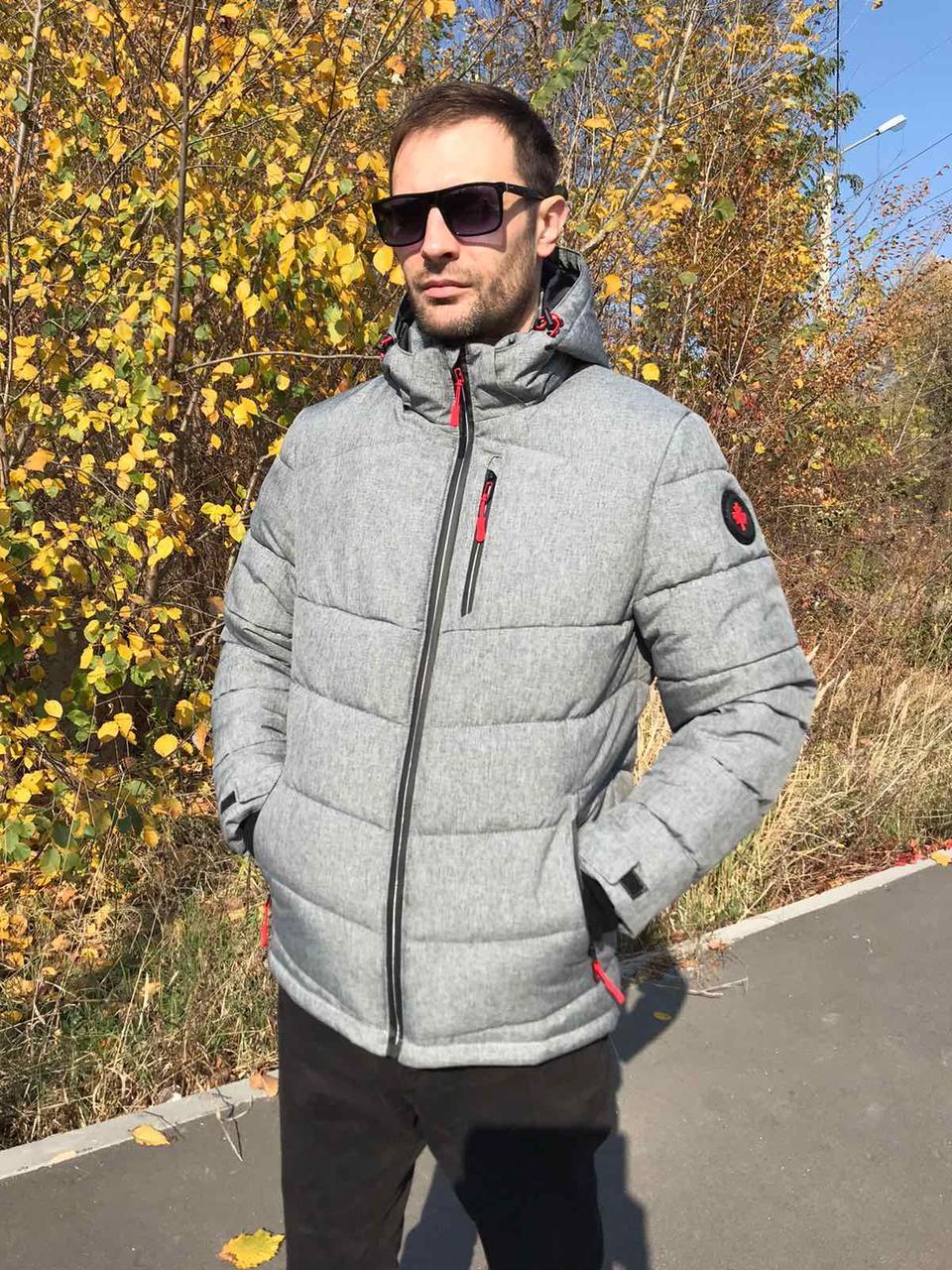 Модная зимняя мужская куртка Krid серый (48-58)