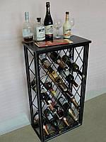 Стол-стеллаж для хранения вина - 3Д (арт. MS-WR-133-28), фото 1