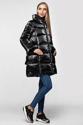 Зимняя женская куртка KTL-283 из новой коллекции KATTALEYA # черный велюр, фото 2
