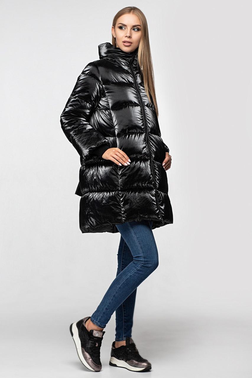 Зимняя женская куртка KTL-283 из новой коллекции KATTALEYA # черный велюр