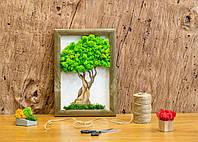 "Картина по номерам из мха ""Дерево""."