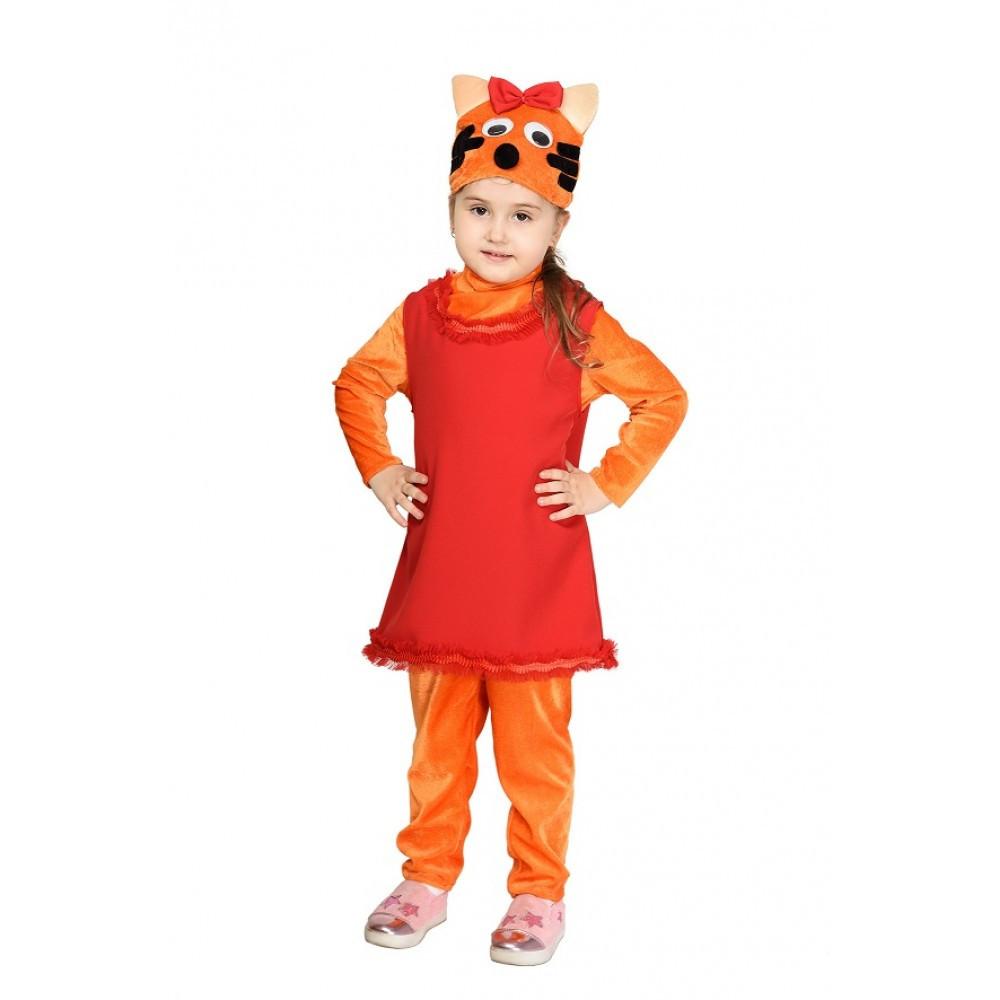 """Детский карнавальный костюм """"Кошечка Карамелька"""" для девочки"""