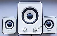ЮСБ колонки 3.1 для компьютера, ноутбука (HS999, белый), фото 1