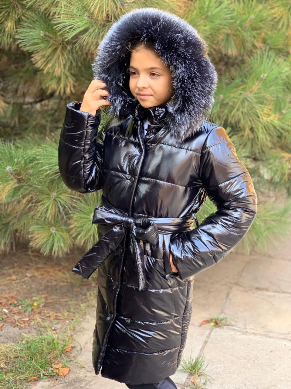 Детское зимнее пальто на девочку на синтепоне 250 плотности
