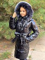 Детское зимнее пальто на девочку на синтепоне 250 плотности, фото 1