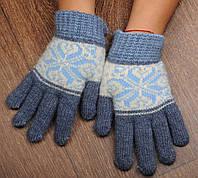 Шерстяные перчатки, подростковые перчатки, перчатки из ангорки,, фото 1