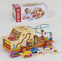 """Развивающая деревянная игрушка Бизиборд с пальчиковым лабиринтом """"Машина"""" 2201"""
