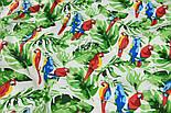 """Лоскут ткани """"Попугаи на ветке"""" №1400, размер 31*78 см, фото 4"""