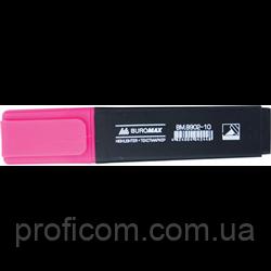 """Маркер текст. """"BuroMax"""" флюор. (рожевий) BM.8901-10"""