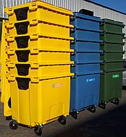 Пластиковый евроконтейнер для раздельного сбора мусора 1,1 м3