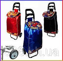 Сумка-тележка на резиновых колёсах, кравчучка