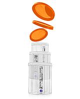 Набір ємностей для сипучих продуктів 1л + 1,5л + 2,0л з помаранчевою кришкою (арт. 99о)