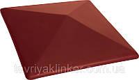 Клинкерная крышка на забор KingKlinker Нота цинамона (06) 445х445х90мм